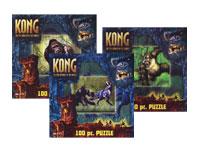 SEt of Three 100 pc King Kong Puzzles